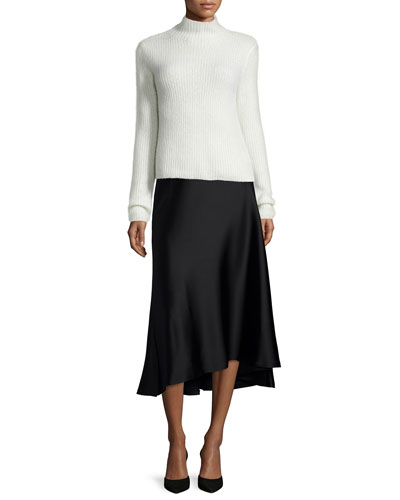 Sisel Nimbus Ribbed Cashmere Sweater & Maity Splendor Full Skirt