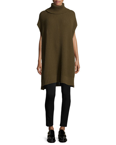 Boseley Cashmere-Blend Poncho & Adbelle Pull-On Leggings