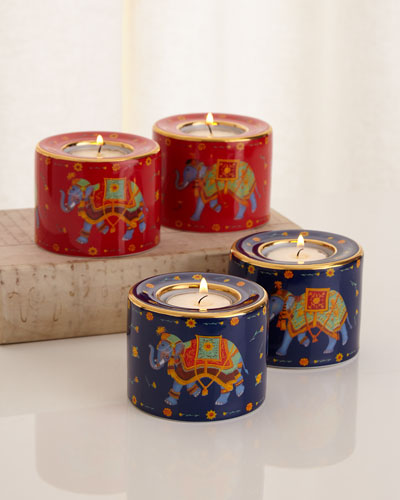 Ceremonial Indian Elephant Tea Light Holders
