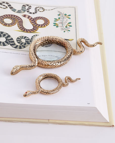 Snake Large Gold-Plated Magnifying Glass