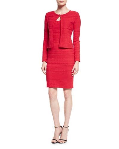 Colette Knit Jewel Neck Cardigan & Sheath Dress
