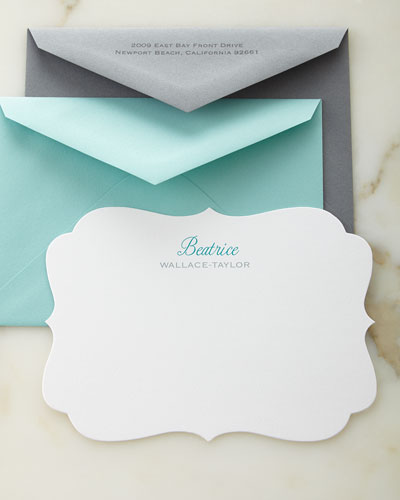 Crest Personalized Cards with Colored Envelopes