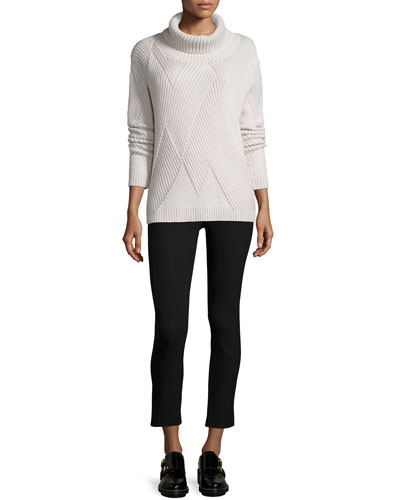 Blithe Knit Turtleneck Sweater & Simone Cropped Stretch Pants