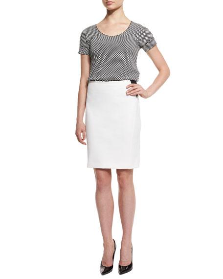Armani Collezioni Short-Sleeve Bicolor Tee, Black/White