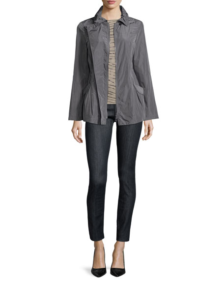 Armani Collezioni Long-Sleeve Slim-Fit Jacket, Slate