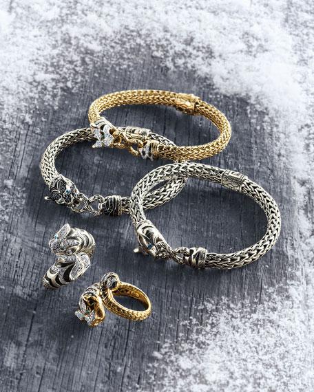 John Hardy Classic Chain Medium Macan Lava Bracelet,