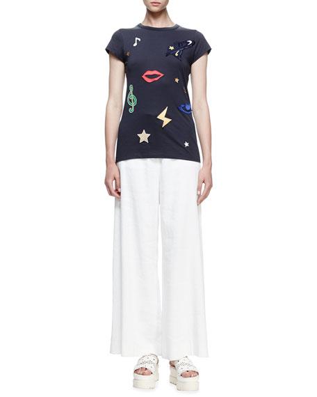 Stella McCartney Patches Short-Sleeve T-Shirt, Midnight