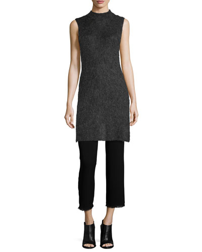 Sleeveless Mock-Neck Tunic & Victoria Mid-Rise Cropped Pants