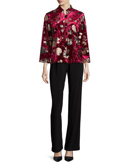 Caroline Rose Panne Velvet Jacket