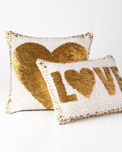White Love & Heart Pillows