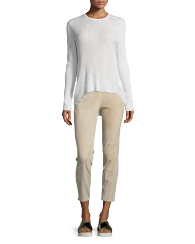 Ellyna Refine Ribbed Sweater & Thaniel Stretch Cropped Pants