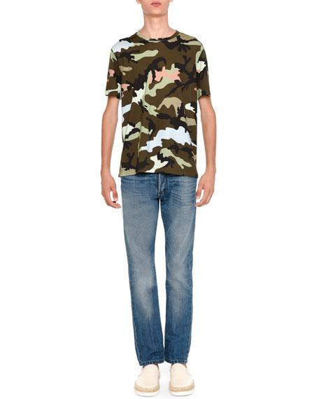 Valentino Camu Rockstud Short-Sleeve T-Shirt, Green
