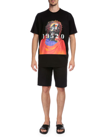 Givenchy Shroud of Turin Graphic Short-Sleeve T-Shirt, Black