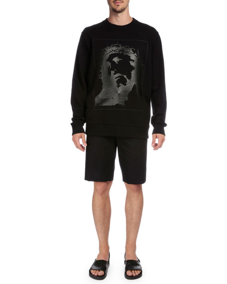Givenchy Tonal Graphic Sweatshirt, Black
