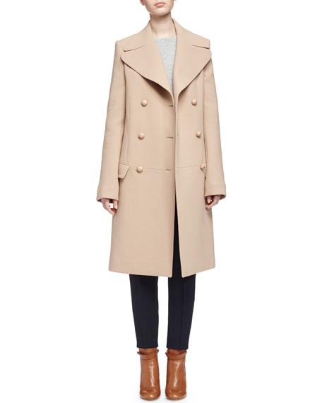 ChloeDouble-Breasted Wool Crepe Coat