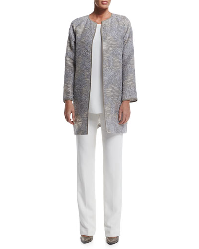 Berkeley Printed Topper Jacket, Sasha Sleeveless Blouse & Barrow Straight-Leg Crepe Pants