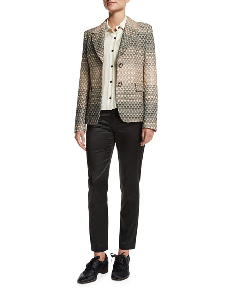 Creatures of the Wind Geometric-Ombre Jacket, Cream Fade