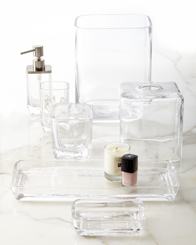 Clear Glass Vanity Accessories
