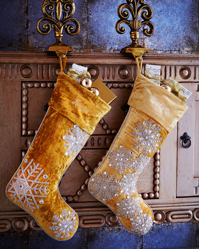 Gold & Silver Christmas Stockings