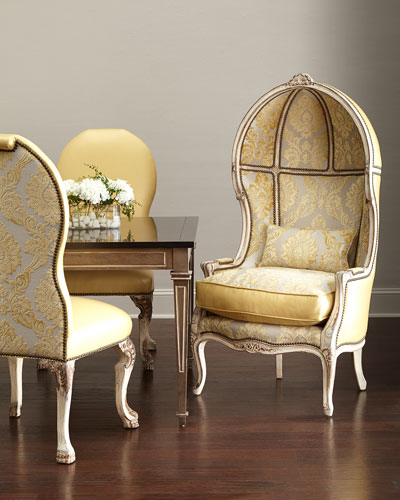 Devine Leather Side Chair & Balloon Chair