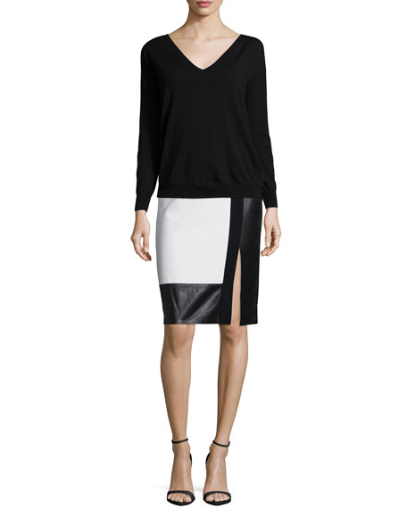 Ralph Lauren Long-Sleeve Tissue Sweater, Black