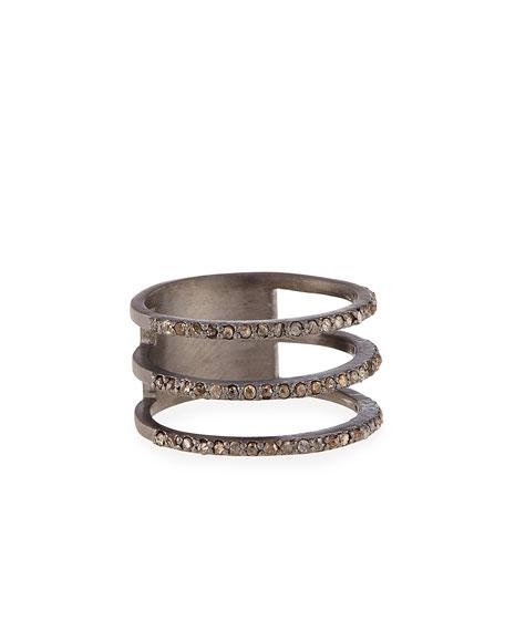 Siena JewelryTriple Row Diamond Ring, Size 6.5