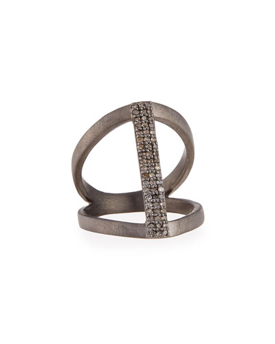 Vertical Diamond Bar Ring