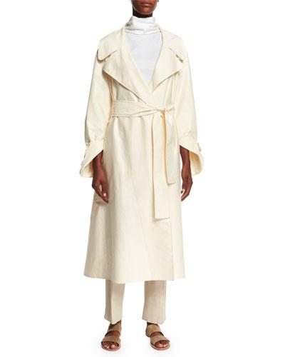THE ROW Harding Water-Repellent Coat, Luna Neck-Tie Sleeveless