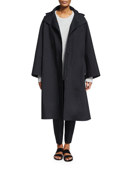 THE ROW Oversized Hooded Coat, Black