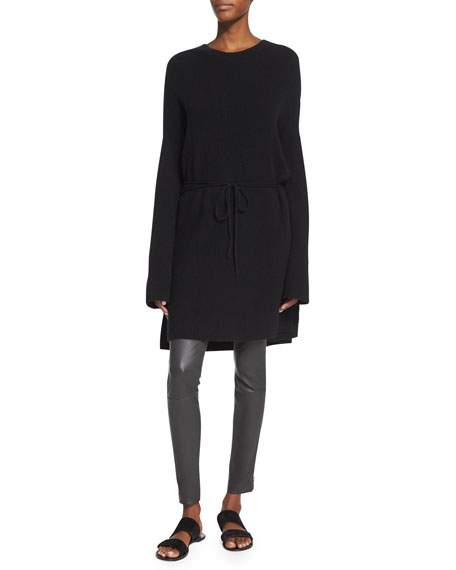 THE ROW Cashmere Tunic Sweater, Black