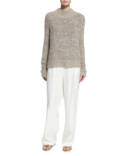 Hetty Funnel-Neck Sweater & Daray Wide-Leg Trousers