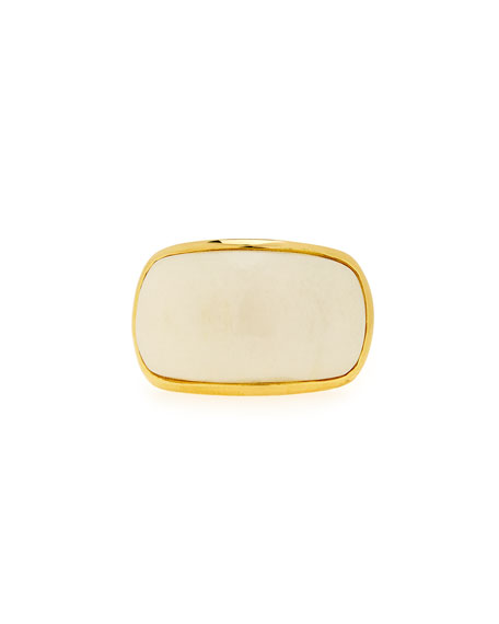 Maiyet Signature Sculpt Ring with Bone, Size 6