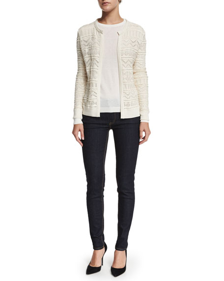 Ralph LaurenLong-Sleeve Open-Front Cardigan, Cream