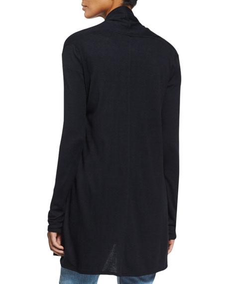 Knightsbridge Open-Front Sweater, Black