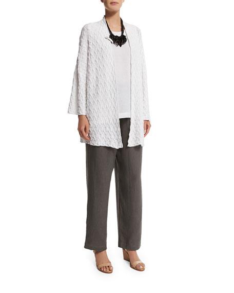 eskandar3/4-Sleeve Open-Front Cardigan, White