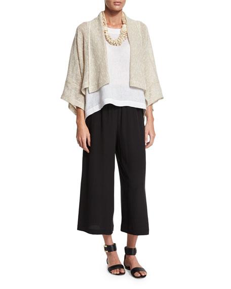 eskandar Open-Front Shawl-Collar Jacket, Undyed