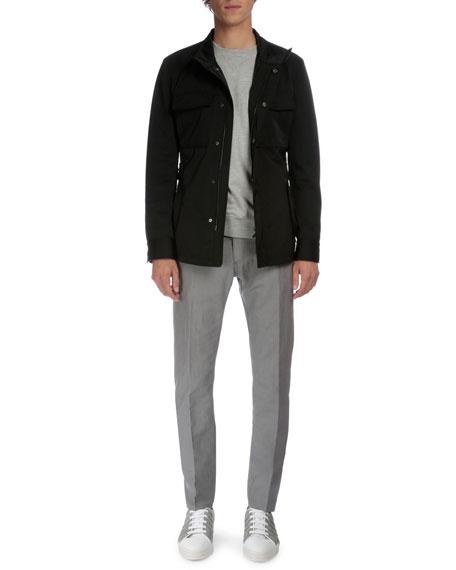 Berluti Five-Pocket Denim Pants, Dark Gray