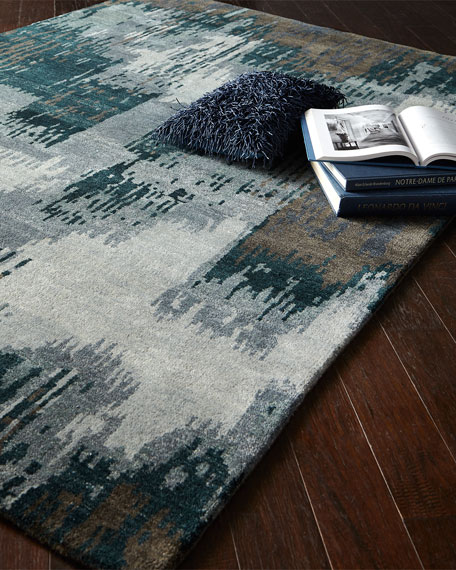 Forest Brushstroke Rug, 6' x 9'
