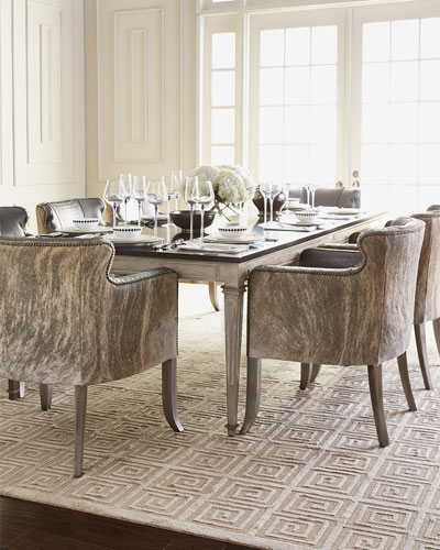 Manchester Dining Table & Pippin Hairhide Dining Chair
