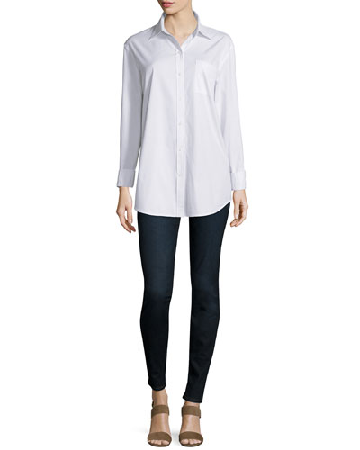 Long-Sleeve Boyfriend Shirt & Joy Mid-Rise Leggings