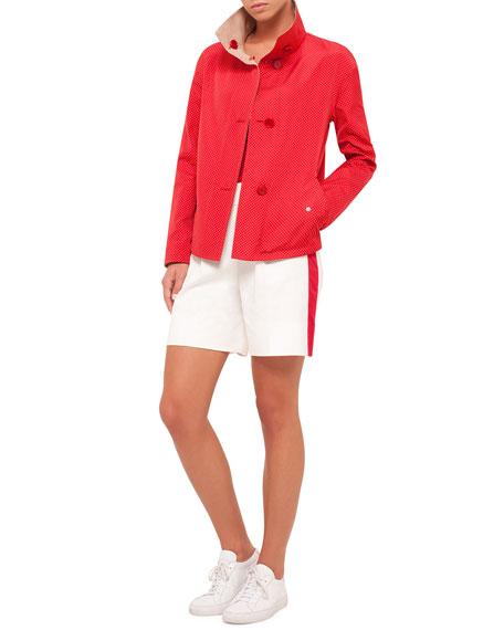 Akris punto Micro-Dot Reversible Jacket, Sport Red Cord