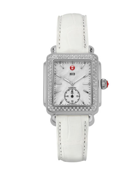 16mm Deco  Diamond Watch Head, Steel