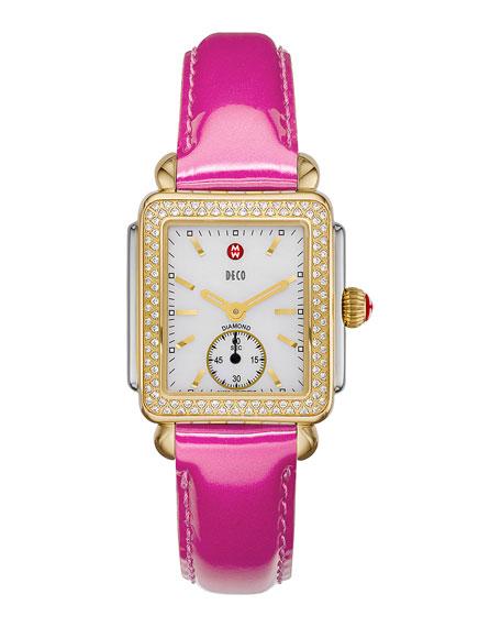 MICHELE 16mm Deco Diamond Watch Head, Two-Tone