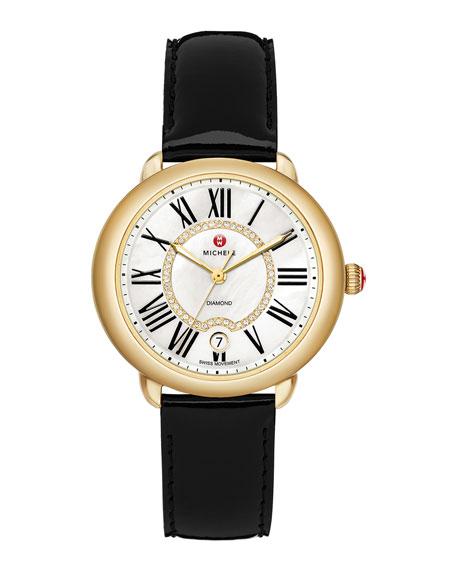 MICHELE 16mm Serein Diamond Dial Watch Head, Gold