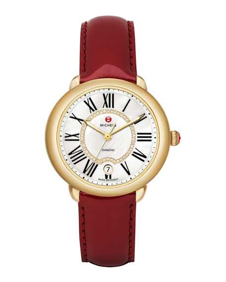 16mm Serein Diamond Dial Watch Head, Gold