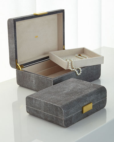 Chocolate-Shagreen Boxes