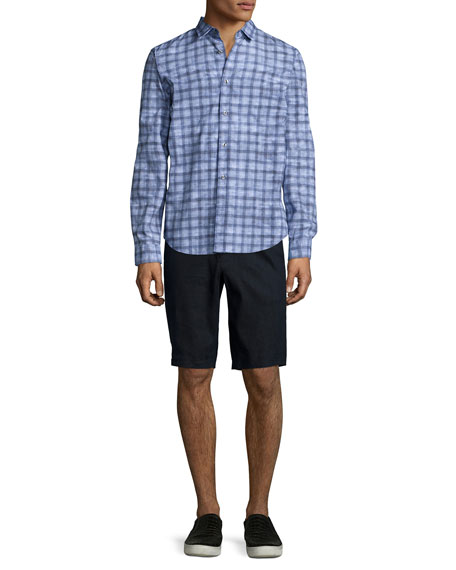 Vince Melrose Printed Long-Sleeve Shirt, Light Blue