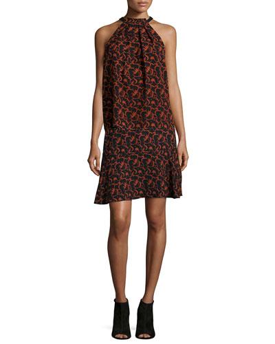 Mari Printed Halter Top & Parks A-Line Skirt