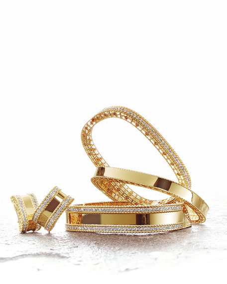 Roberto Coin Princess 18k Gold Huggie Earrings with