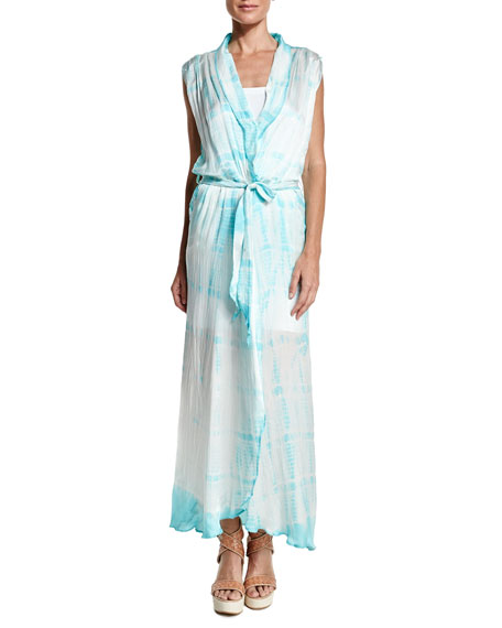 Letarte Royal Hawaiian Tie-Dye Maxi Dress